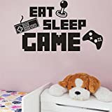 Weaeo Eat Sleep Spiel Aufkleber Aufkleber Vinyl Gaming Keyboard Joystick Gamepad Gamer Wall Art Design Jugendlich Zimmer Gaming Room Wall Sticker