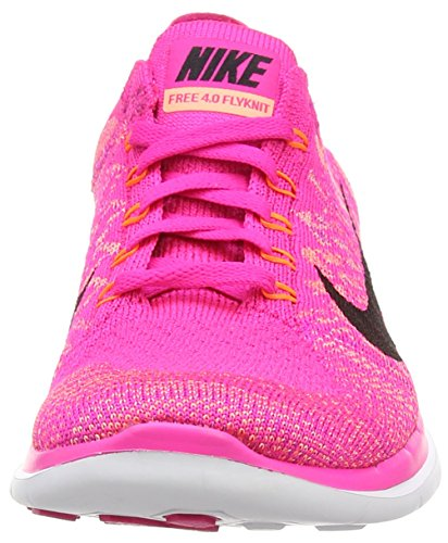 Nike Damen Free 4.0 Flyknit Laufschuhe Pink (Pink Foil/Black/Sunset Glow)