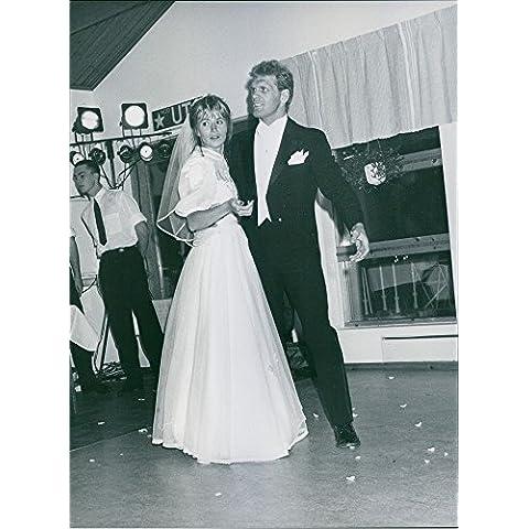 Vintage Foto Di Frank Andersson Balla con una donna.