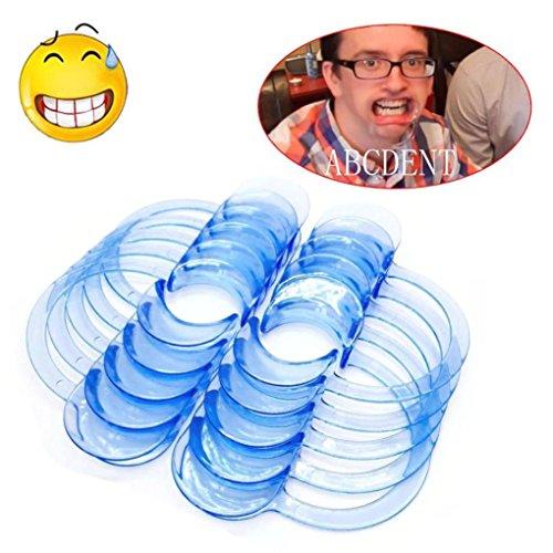 Ouneed® Dental C-Type Wangenhalter ,1pcs C-förmige Blau Zähne, intraorale Wange Lippen Spreizer Mundöffner M (Dental Intraorale)