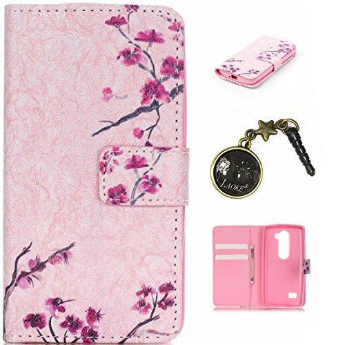 PU Silikon Schutzhülle Handyhülle Painted pc case cover hülle Handy-Fall-Haut Shell Abdeckungen für Smartphone (LG Leon 4G LTE H340N C40 C50)+Staubstecker (P4)