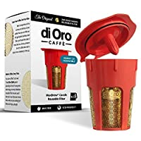 MaxBrew 24K GOLD Reusable K-Carafe Filter for Keurig 2.0 - K-Cup Reusable 4-5 Cup Carafe Filter for Keurig 2.0: K200, K300, K400, K500 Series with Lifetime Guarantee