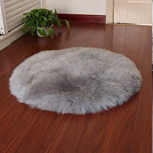 HLZDH oveja de piel sintética Felpudo alfombra Antideslizante Lujosa Suave Lana artificial Alfombra para salón dormitorio baño sofá silla cojín