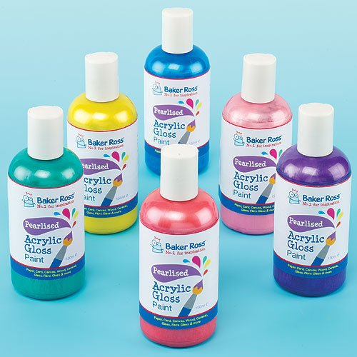 pearlised-acrylic-paint-6-assorted-colours-150ml-each-quick-drying-waterproofset-of-6