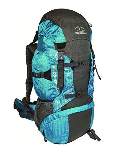 Highlander Discovery - Mochila de senderismo, color azul / gris, 45 L