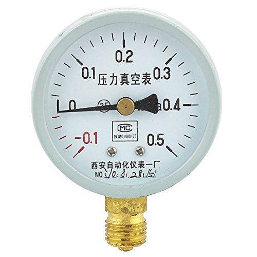 Druck-vakuum-messgeräte (Sourcingmap a14071400ux050660mm-0,1MPa-0,5MPa Glow Öl Gas Air Vakuum Druck Messgerät-Grau/Weiß)