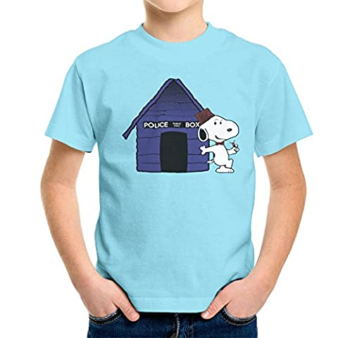 Dr Who Snoopy Tardis Kennel Kid's T-Shirt (Charlie Brown Weihnachts-tv-programm)