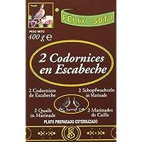 Félix Soto, Conserva de carne de pollo (Codornices en Escabeche) - 4 de 400 gr. (Total 1600 gr.)