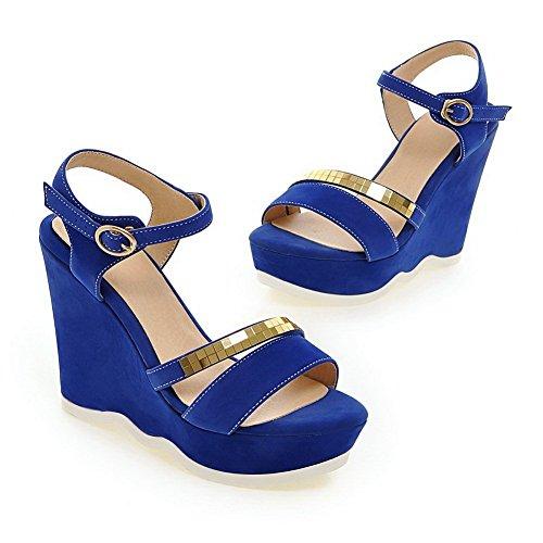 balamasa paillettes pour femme open-toe pumps-shoes givré Bleu