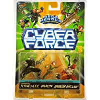 1995 - Mattel / Top Cow - Mega Heroes - Cyber Force - 3 Figure Set w/ Flying S.H.O.C. / Velocity / Warrior Ripclaw - RARE Numbered Action Figure Set - #03060 - MOC - Limited Edition - Collectible by Cyber Force