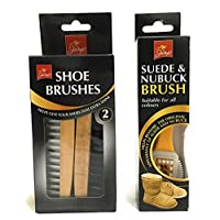 Pack Of 2 Wooden shoe Brush And Suede & Nubuck Brush For Restore To Original By Aliahs_best247
