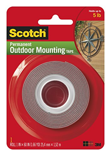 Scotch Exterior Mounting Tape, 1-Inch by 60-Inch by Scotch