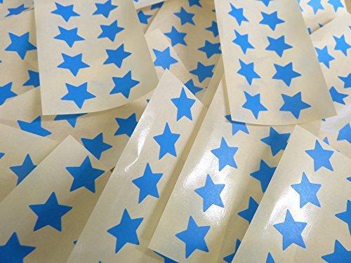 15mm Azul Medio Con Forma De Estrella Etiquetas, 180 auta-Adhesivo Código De Color Adhesivos, adhesivo Estrellas para Manualidades y Decoración