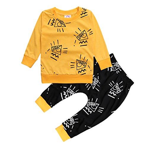 CHENGYANG Abbigliamento Bambini Stampate Maglietta Cotone T Shirt Manica lunga e Pantaloni Lunghi (Abbigliamento bambino)