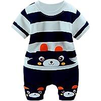 Bold N Elegant Cute Cartoon Print Half Sleeve T-Shirt and Shorts Clothing Set for Infant Toddler Baby Boy Girl (2-3…