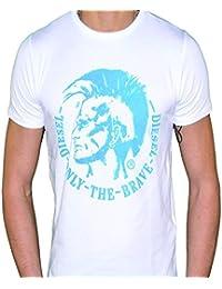 Diesel - T-Achel-R T-shirt hommes BLANC ET BLEU CIEL T TRIVI Mohawk