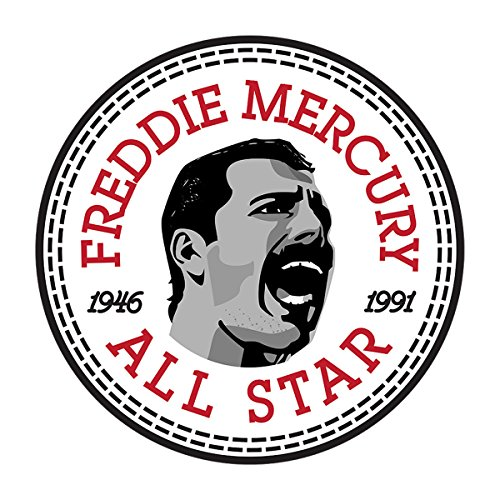 Freddie Mercury Converse All Star Icon Men's Baseball Long Sleeved T-Shirt White/Black