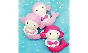 munchkin land Mermaid Slow Rising Soft Squishy Charms Toy for Stress Relief and Time Killing (Assorted Colours)