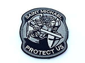 St Michael Protect Us Brodé Airsoft Patch