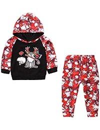 2 STÜCKE Weihnachten Kleinkind Baby Jungen Mädchen Cartoon Outfits Neugeborenen Kinder Unisex Weihnachten Langarm Tops + Hosen Outfit Set Weihnachten Set Für Baby Von Vovotrade