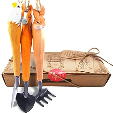 Jardinage Enfant: aGreatLife Kids Gardening Kit: Handcrafted Wooden Tools for Gardeners of all Ages - Well-Made and Finely Crafted with Love - Perfect Garden Gift Idea for Everyone