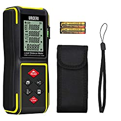 Laser Measure, URCERI Laser Distance Meter 60m, Digital Tape Measurement Tool with Bubble Level and Backlit LCD Display Battery Included (60m/197ft)