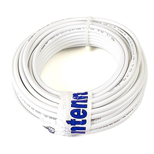 20 m (Meterware) Kathrein LCD 111 A+ Koax Kabel RG6 1,13/4,8/6,9 mm NEU: Class A+, weiß, PVC Lcd-tv-kabel