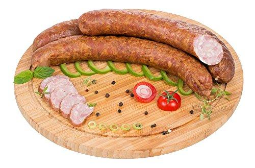 Waldfurter Metzgerwurst 600g Grobe geräucherte traditionelle Wurst im Naturdarm