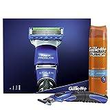 Gillette Pro Glide Styler Geschenkset (Rasierer plus Gillette Fusion Hydra Rasiergel für empfindliche Haut 200 ml)