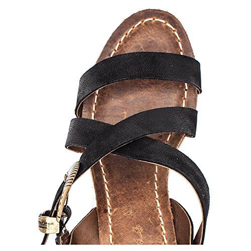 Matisse Titus Femmes Cuir Sandales Black