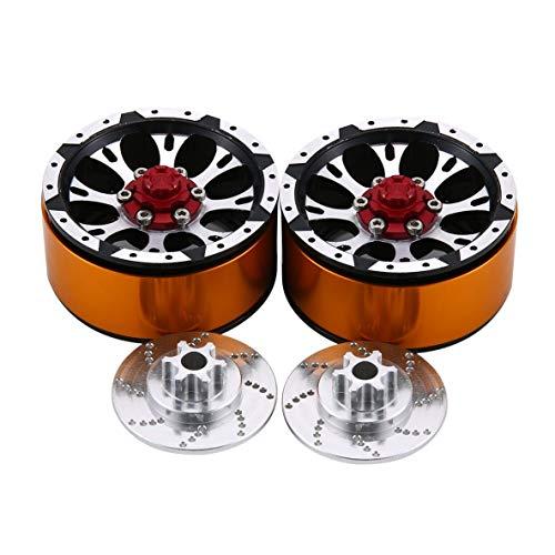 Noradtjcca 1 Paar / 2 Paare Legierung 1,9 CNC Beadlock Räder Felgen für 1/10 RC Crawler Axial SCX10 SCX10 II 90046 Traxxas TRX4 D90 CJGLG0006 -