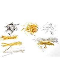 Jaz's Combo Pack-Finding For Jewellery Making- Head Pins, Eye Pins, Earring Hooks,Ball Head Pins, Jump Rings-10...