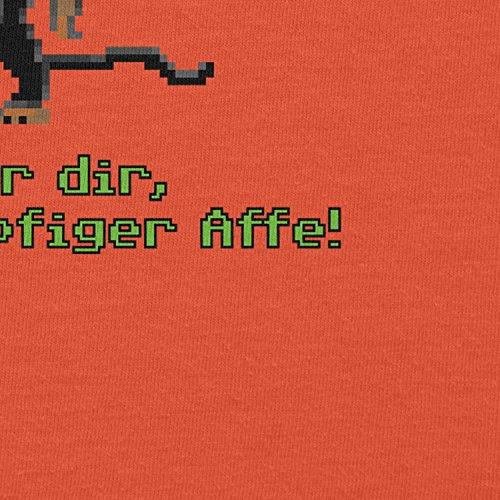 NERDO - Dreiköpfiger Affe - Herren T-Shirt Orange