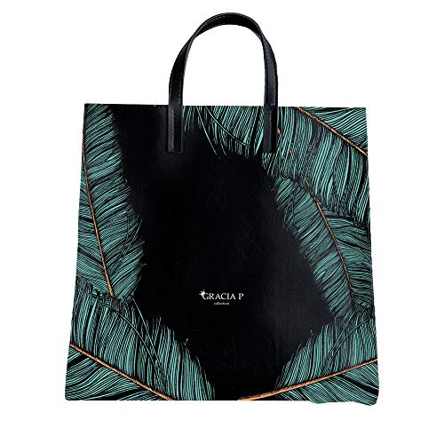 GRACIA P Collection Borsa Shopper in Vera Pelle (Piume)