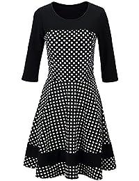 Laeticia Dreams Damen Kleid Rockabilly 3/4 Arm S M L XL