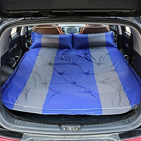 Alip Inflable del coche cama de choque coche Coches de Segunda Mano SUV trasera del coche cama de Viaje colchón de la cama de aire ( Color : Azul )