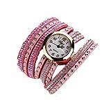 Vovotrade Femmes Modus Lässige Armband En Cuir Montre-Armband Femmes Robe_Rosa