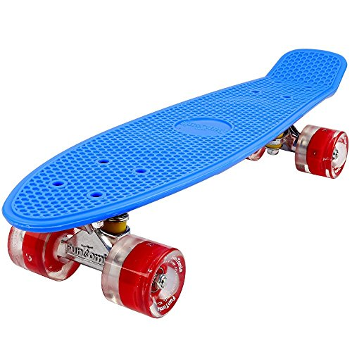 FunTomia® Mini Skateboard 57cm - Con o sin LED Ruedas - Wheel 59mmx45mm (82A 943739a75db