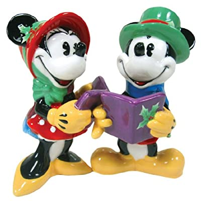 Salt & Pepper Shakers - Disney - Mickey & Minnie Caroling New Toys 18918 from Westland