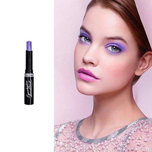 LCLrute Lidschatten Eyeliner Music Flower Textmarker Lidschatten Bleistift Cosmetic Glitter (K)