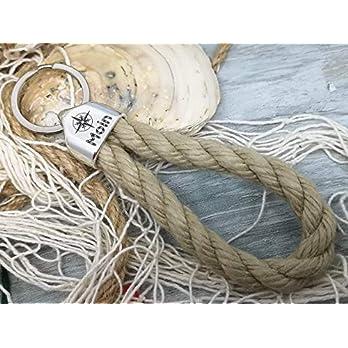 MOIN – Schlüsselanhänger Schlaufe – Reep – handgetüdelt in Hamburg – maritimes Geschenk, für einen Umzug nach…