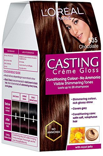 L'Oreal Paris Casting Creme Gloss, Chocolate 535, 87.5g+72ml