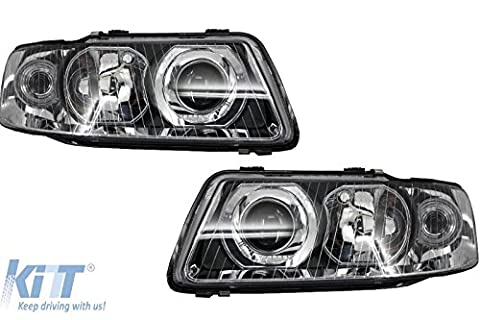 KITT 1030182/1030183 Phares 00-03 Chrome 8E0941030C Headlights Halogen