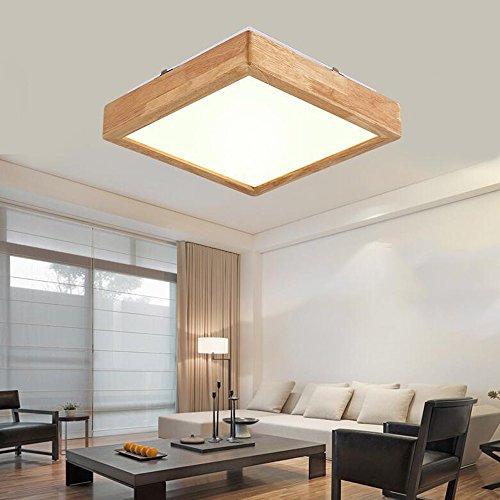LXSEHN Nordic Moderne LED Massivholz Deckenleuchte Schlafzimmer Wohnzimmer Holz Wandleuchte ( größe : 50*50*9cm )