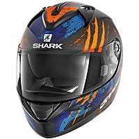 Shark Moto Casco Hark – ridill threezy Mat, Negro/Naranja/Azul, ...