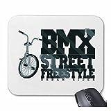 Reifen-Markt Mousepad (Mauspad) BMX Street Freestyle Bicycle Motocross BONANZARAD Fahrrad Freestyle Mountainbike für ihren Laptop, Notebook oder Internet PC (mit Windows Linux usw.) in Weiß