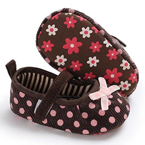 cinnamou Babyschuhe Baby Mädchen Jungen Soft Sole Schuhe Sneakers Casual Süße Leopard Anti-Rutsch-Babyschuhe Krippeschuhe Strandschuh (12-18 Monate, Braun) -