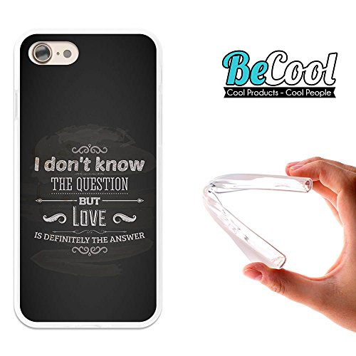 BeCool®- Coque Etui Housse en GEL Flex Silicone TPU Iphone 8, Carcasse TPU fabriquée avec la meilleure Silicone, protège et s'adapte a la perfection a ton Smartphone et avec notre design exclusif. Tu  L1177