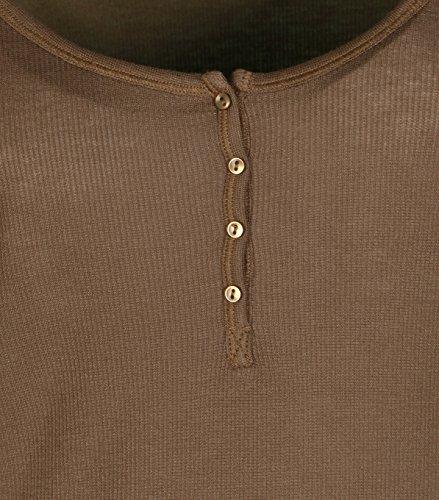 IHEART Damen Langarm-Shirt Marie Camel 144camel