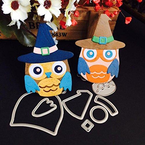 booking, SHOBDW Weihnachten Halloween Papier Dekor Schneiden Dies Schablone Scrapbooking DIY Handwerk (D) (Halloween-dekor)